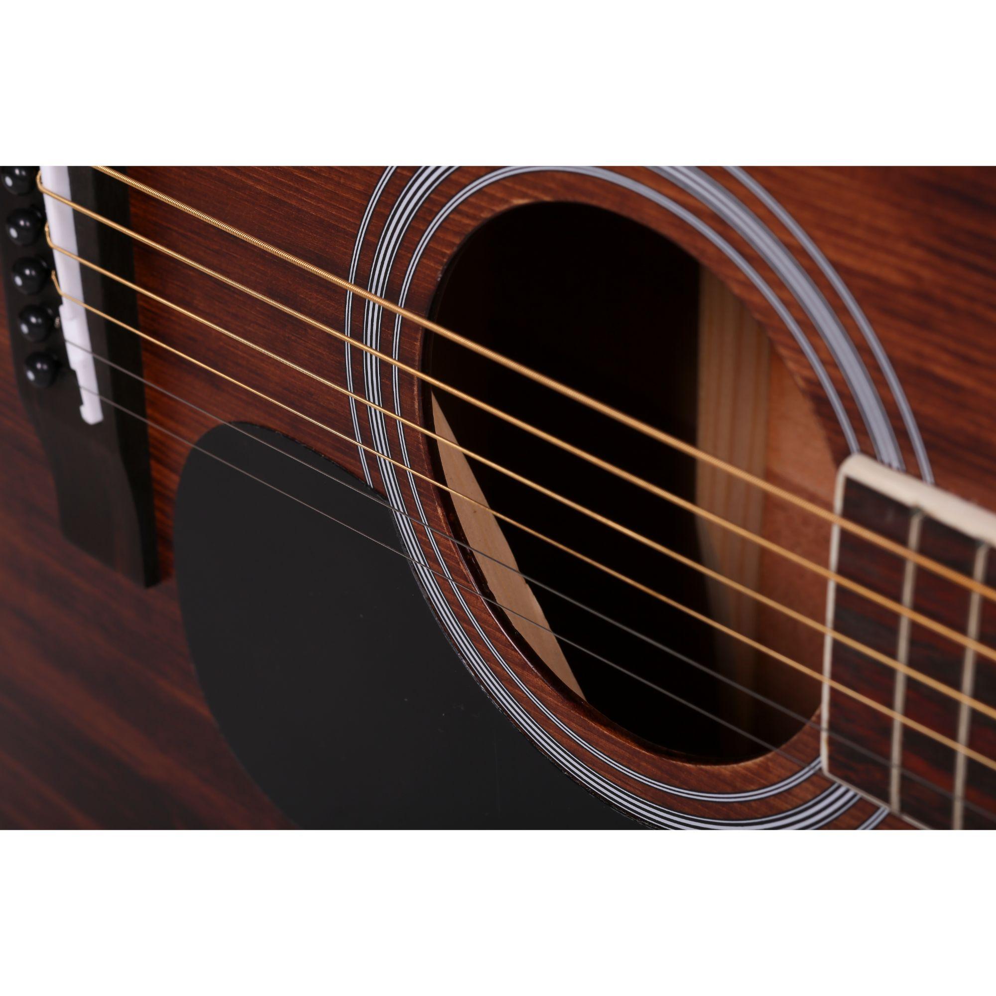 Mantic AG10SC  Solid Top Acoustic Guitar - Natural