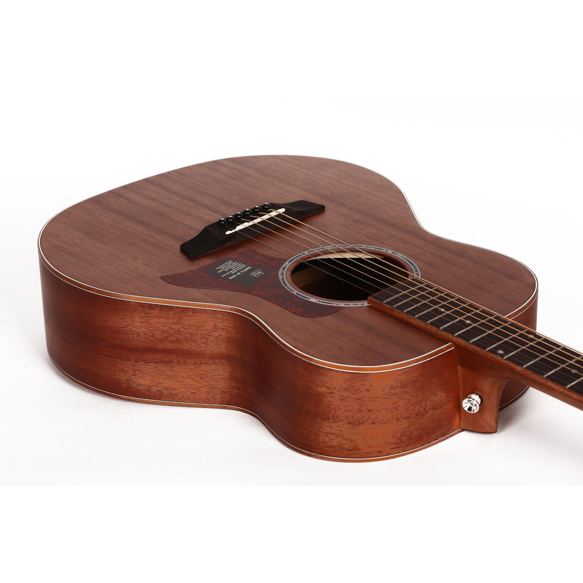Mantic BG2S  Solid Top Travel Acoustic Guitar - Mahogany Finish