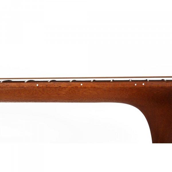 Mantic BG2SE Solid Top  Semi - Acoustic Travel Guitar - Mahogany Finish