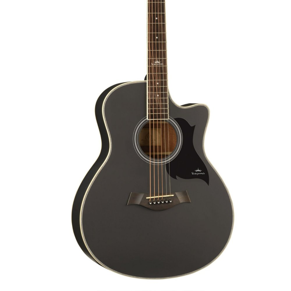 Kepma A1C Acoustic Guitar-  Black Matt