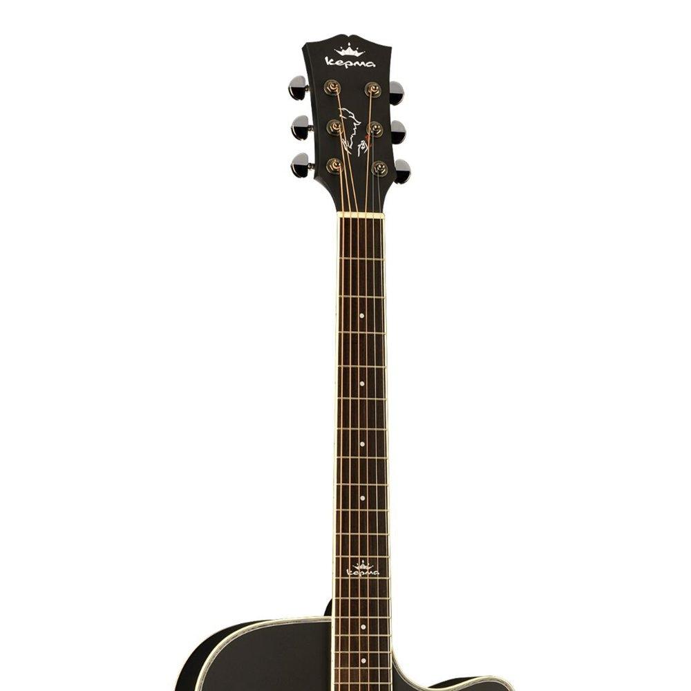 KEPMA D1C  Acoustic Guitar-- Black Matt