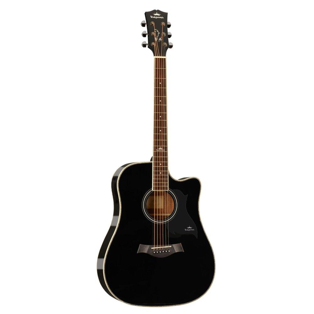 KEPMA D1C  Acoustic Guitar-- Black Gloss