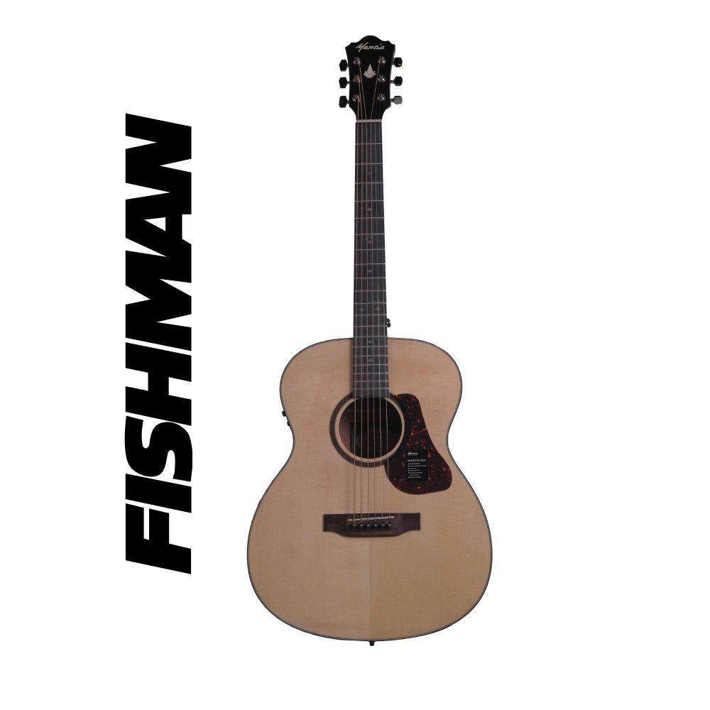 Mantic OM1 -E Semi-Acoustic Guitar with Fishman Pickup - Natural