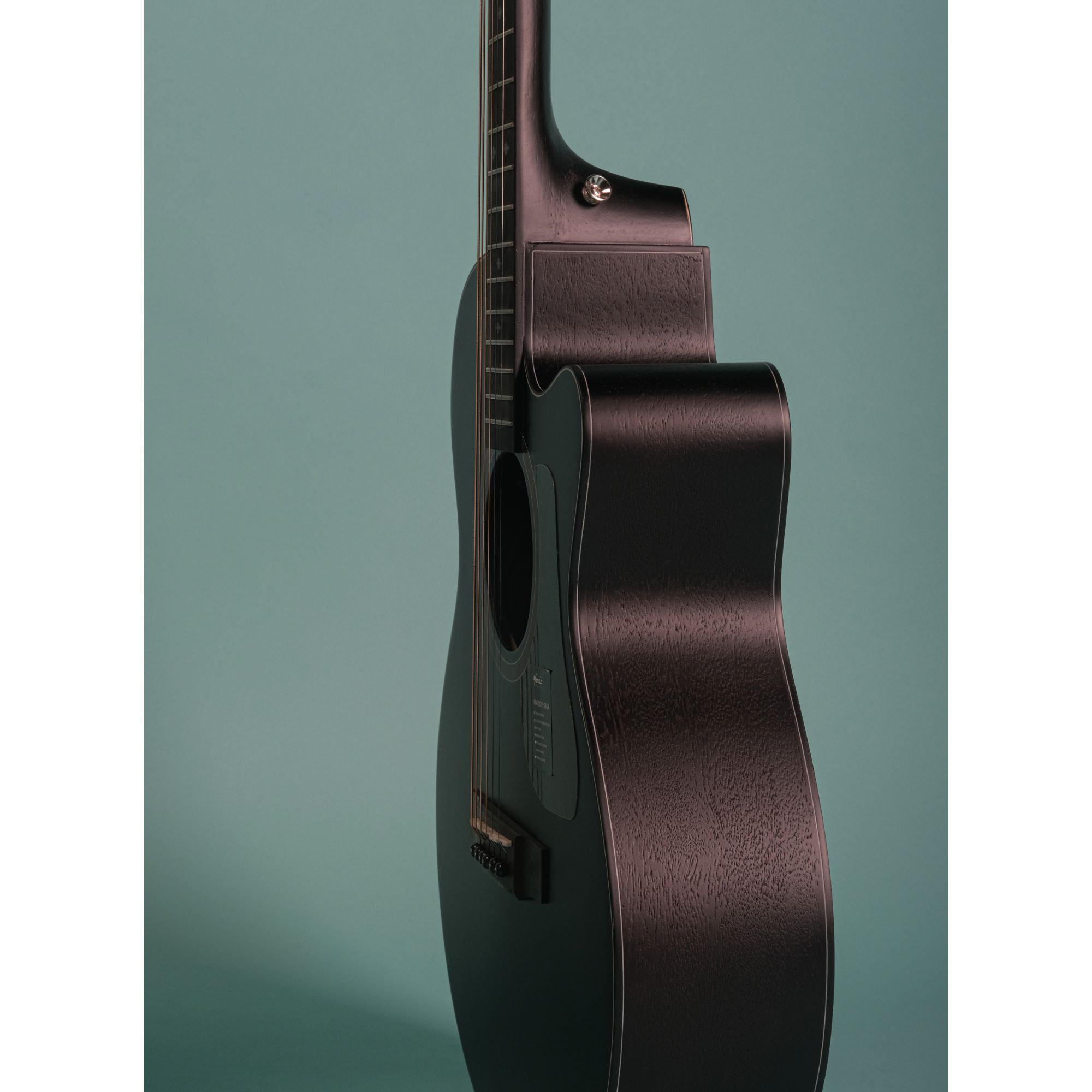 Mantic MG1CE Acoustic Guitar with Fishman Pickup - Black
