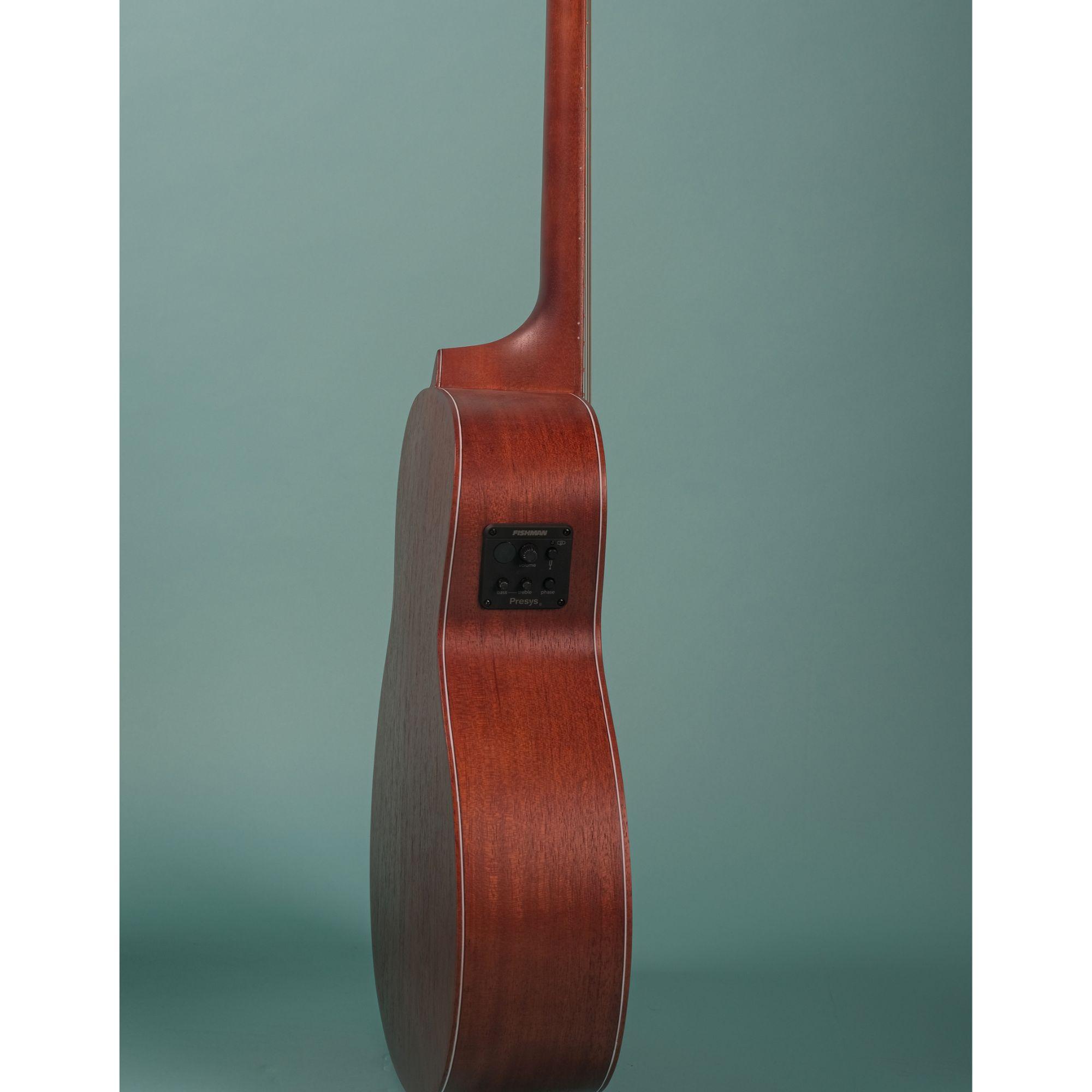 Mantic BG2-E  Travel  Semi-Acoustic Guitar with Fishman Electronics -Mahogany finish