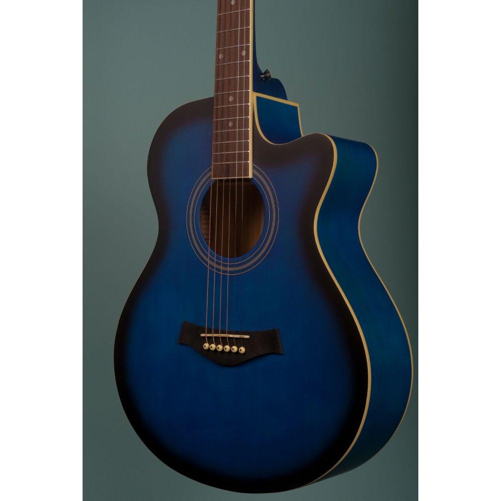 Richtone  RT40C Acoustic Guitar- Blue Burst Matte