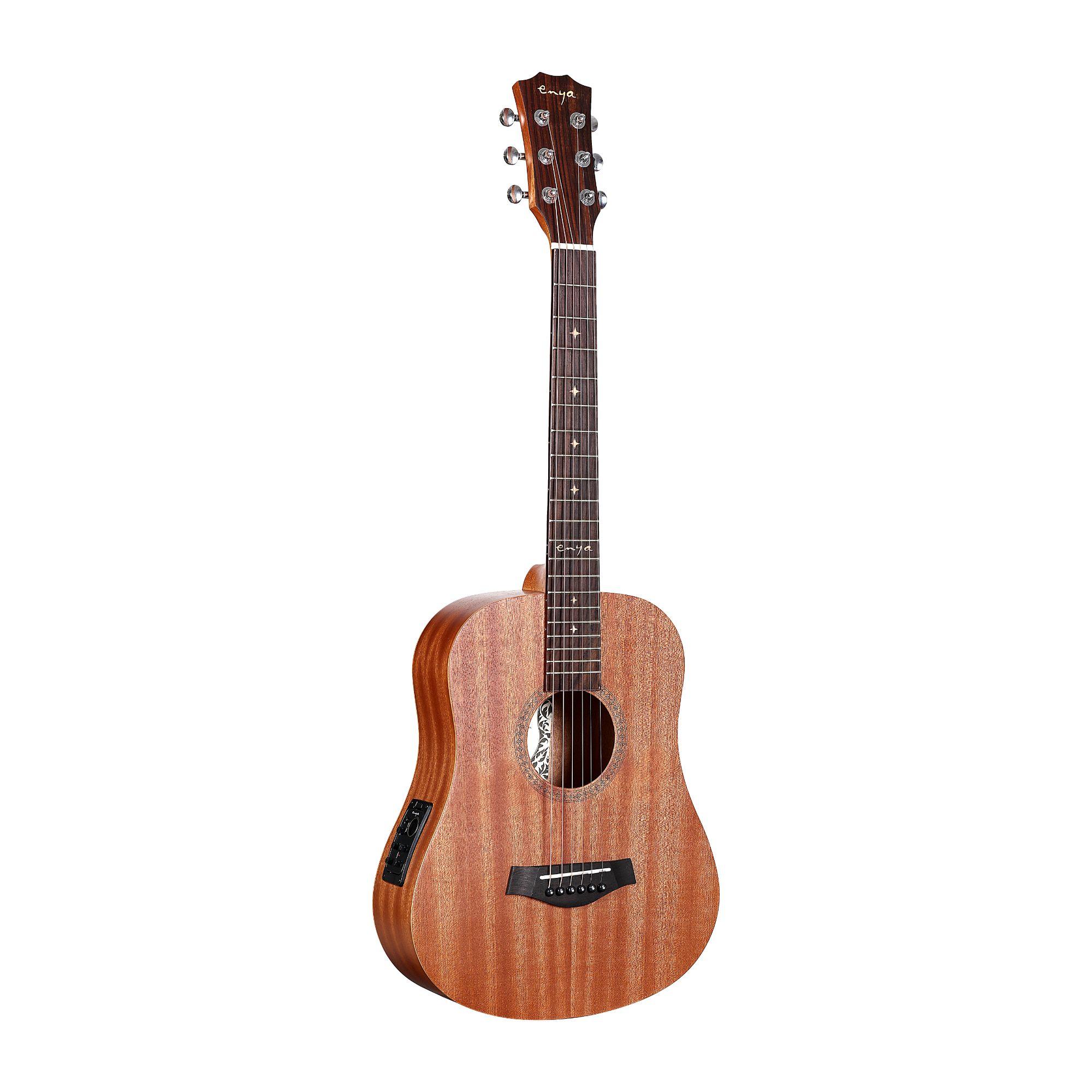 Enya EB-01 EQ Mini Travel Guitar- Natural Matt