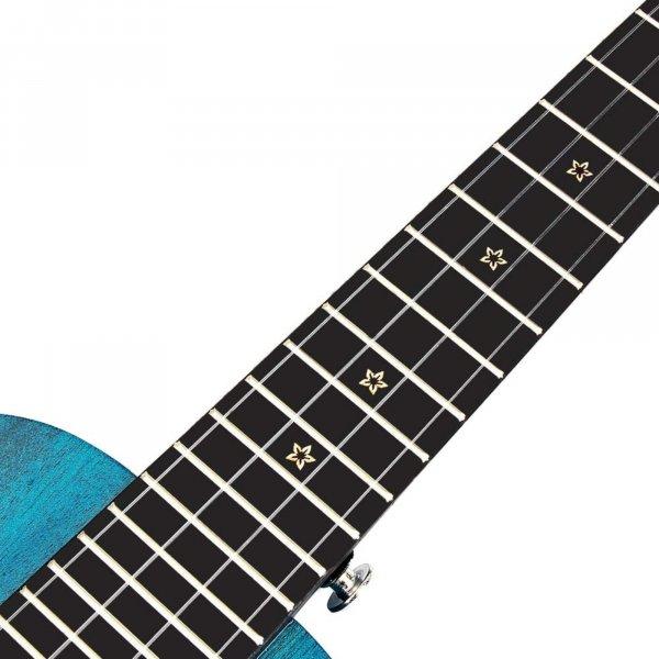 Enya  EUC 25D  Concert Solid Mahogany Top Ukulele - Blue