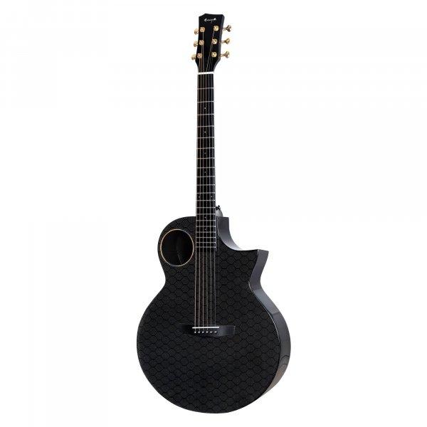 Enya EA-X4EQ  TransAcoustic Guitar-  Black Glossy  with Hard case