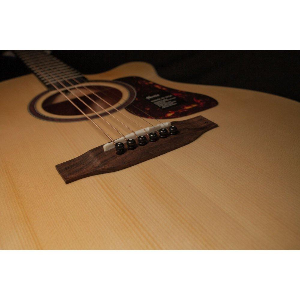 Mantic MG1CE Acoustic Guitar with Fishman Pickup - Natural Matte