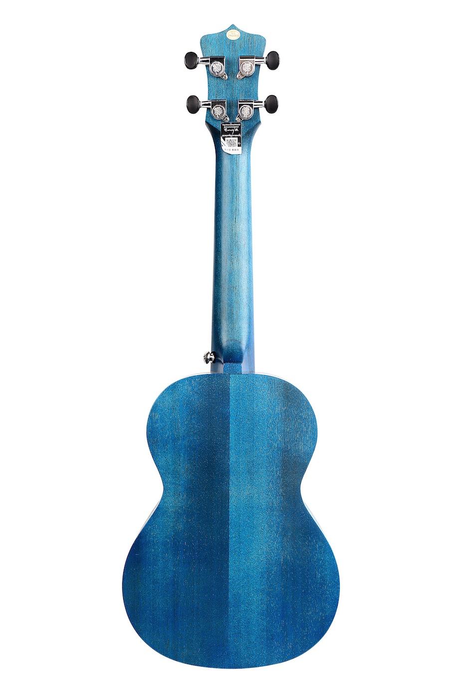 Enya Kaka KUC25D  Concert SOLID Mahogany Top Ukulele - Blue Finish