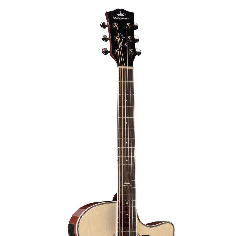 Kepma A1CE - Semi acoustic Guitar-  Natural Glossy