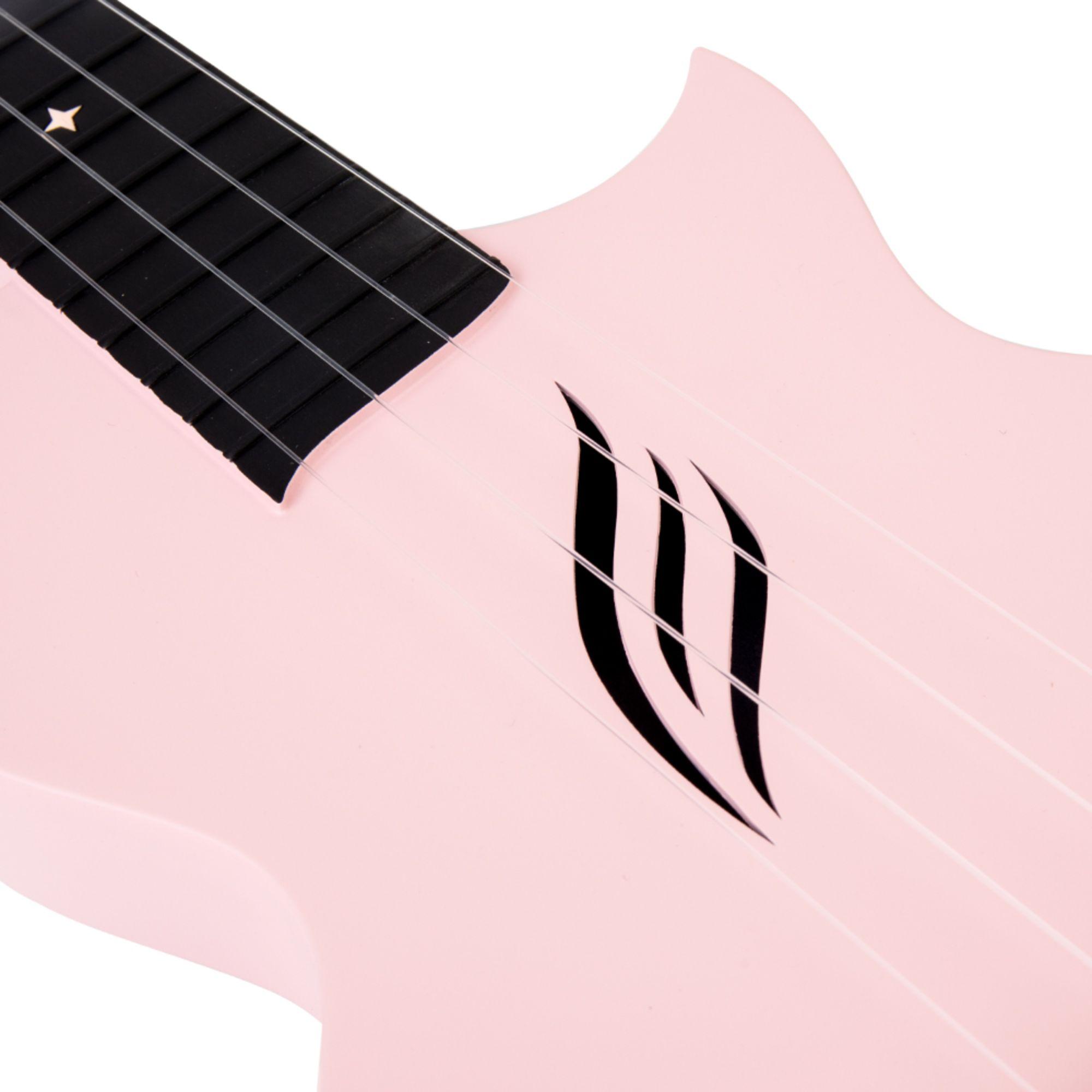 Enya Concert Nova U Carbon Fiber Travel Ukulele-Pink Matt
