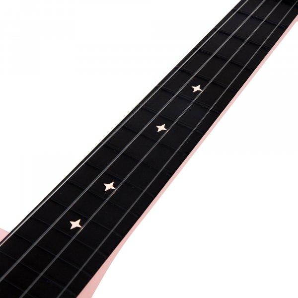 Enya Concert Nova UE Carbon Fiber Travel Ukulele with AcousticPlus- Pink