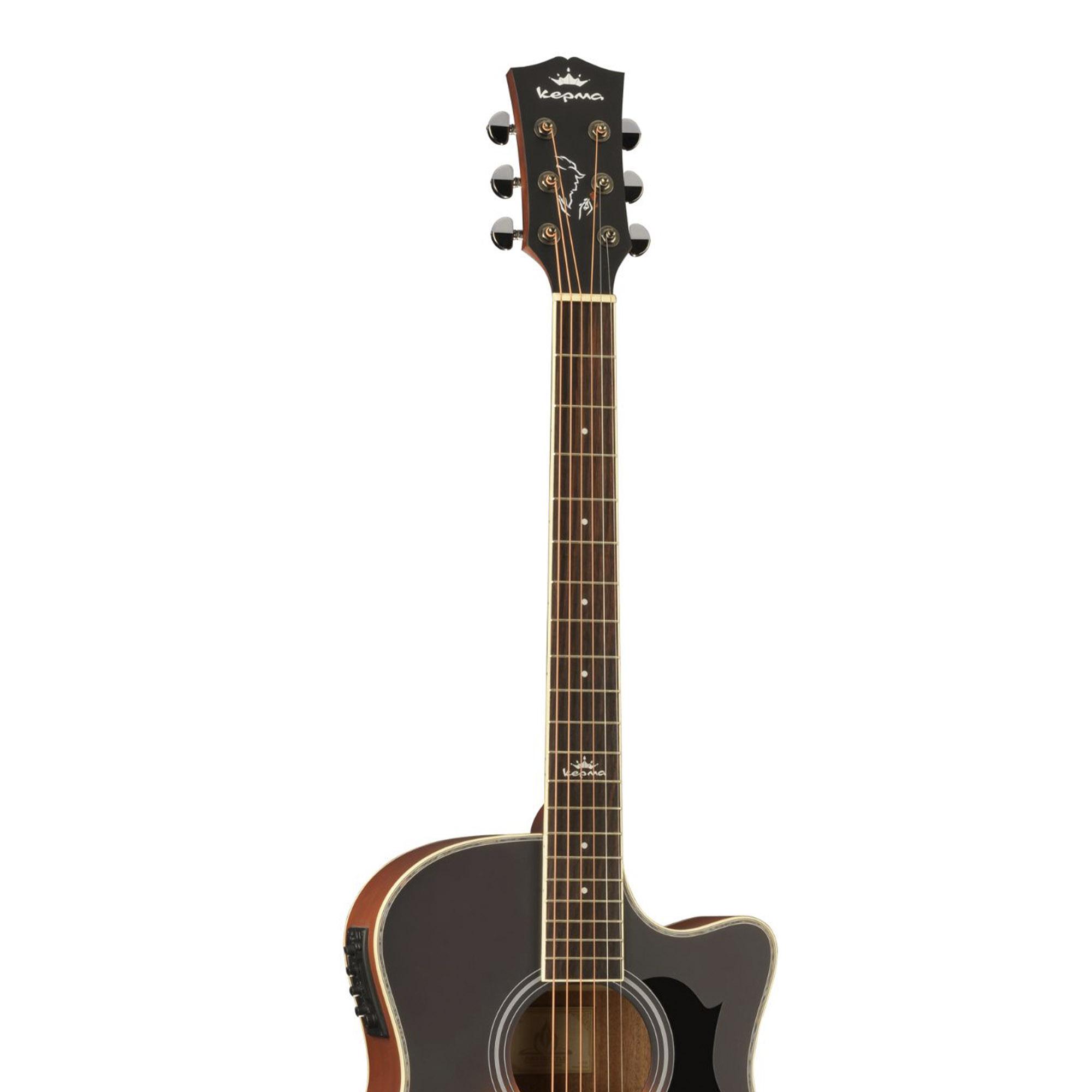Kepma A1CE - Semi acoustic Guitar-  Sunburst Glossy