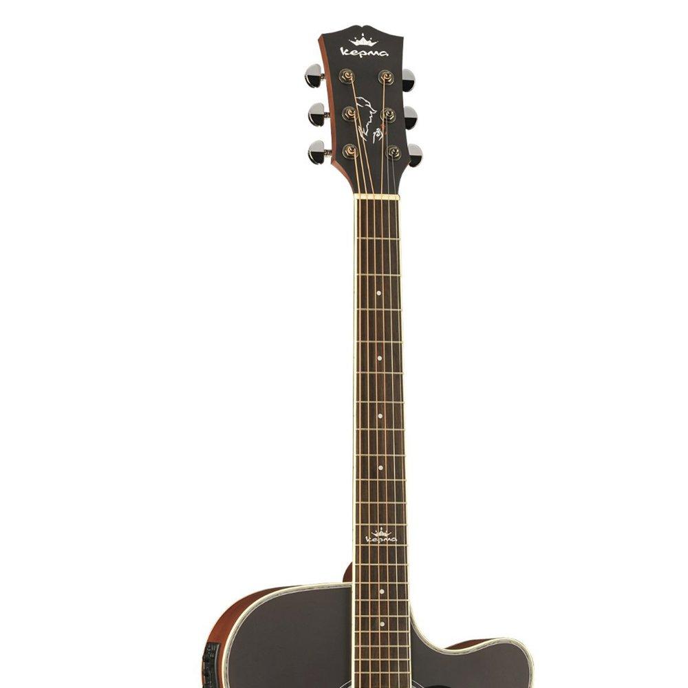 Kepma D1CE - Semi Acoustic Guitar- Sunburst Matt