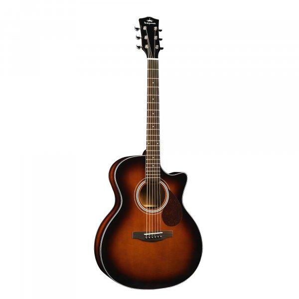 Kepma F0 GA  Solid Top Acoustic Guitar- Cherry Burst