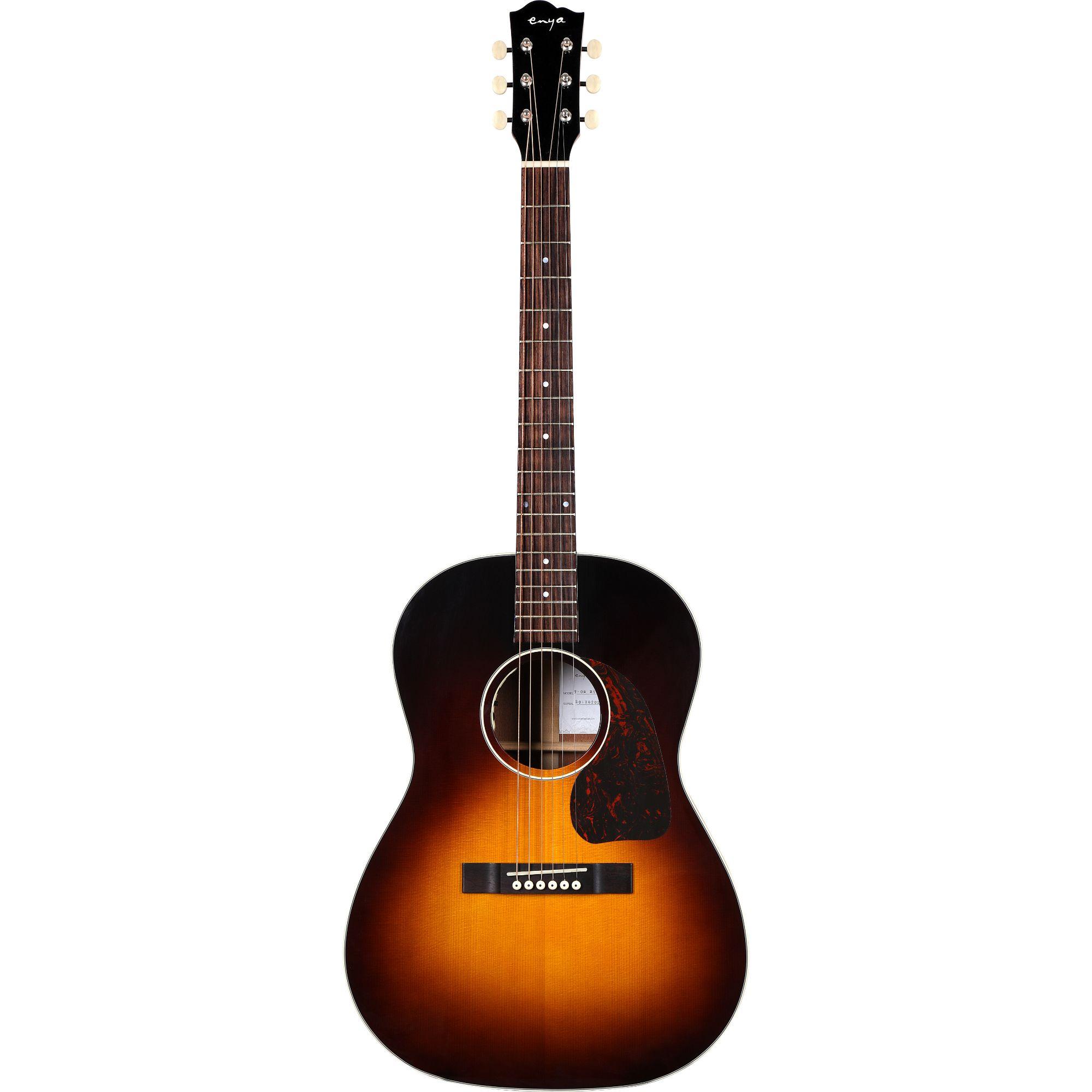 Enya T05B  Semi- Acoustic Guitar-  Sunburst  with Hardcase | vintage series