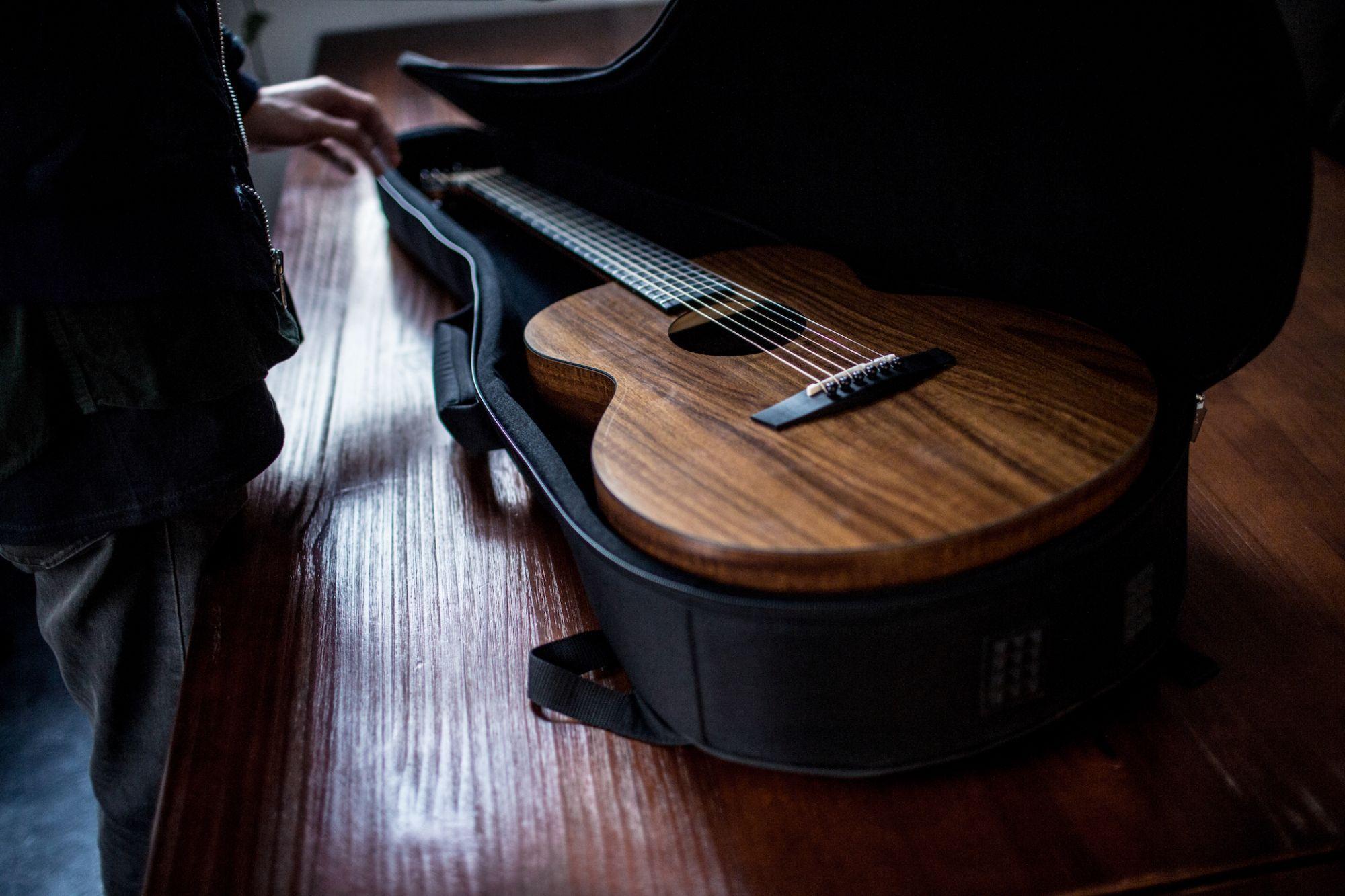 """Enya EM-X1  EQ  """"36"""" Acoustic Guitar- All Koa Finish"""