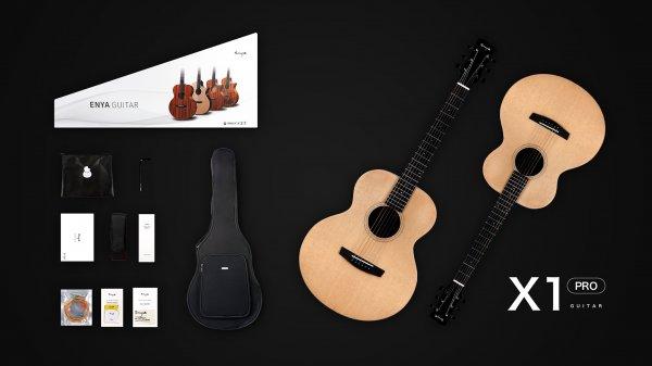 "Enya EM-X1  PRO EQ  ""36""TransAcoustic Guitar- Natural Matt Finish"