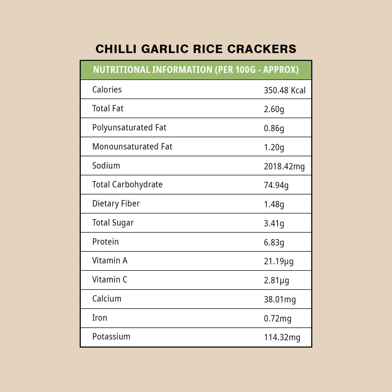 CHILLI GARLIC RICE CRACKERS