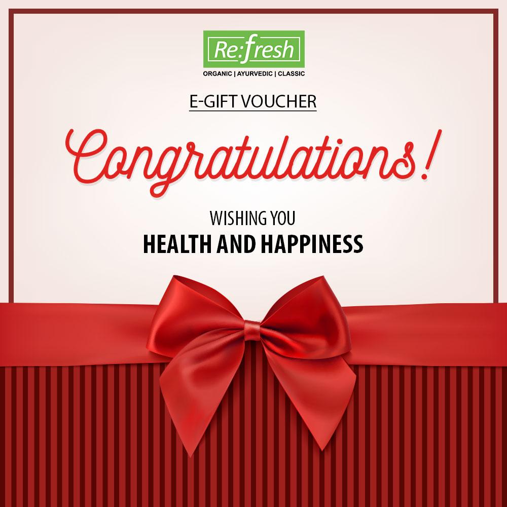 Congratulation E Gift Voucher