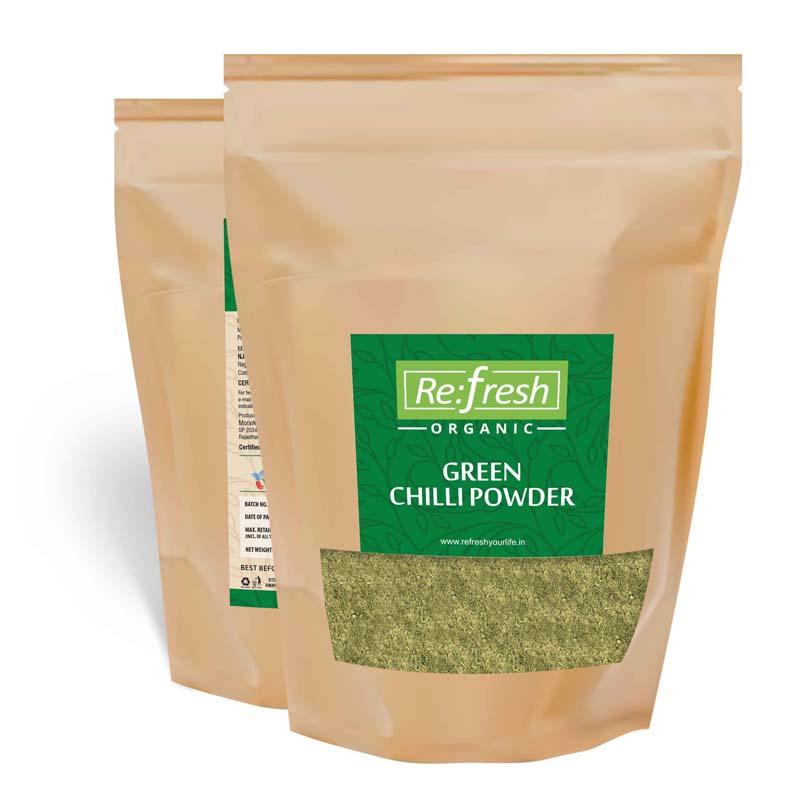 Organic Green Chilli Powder