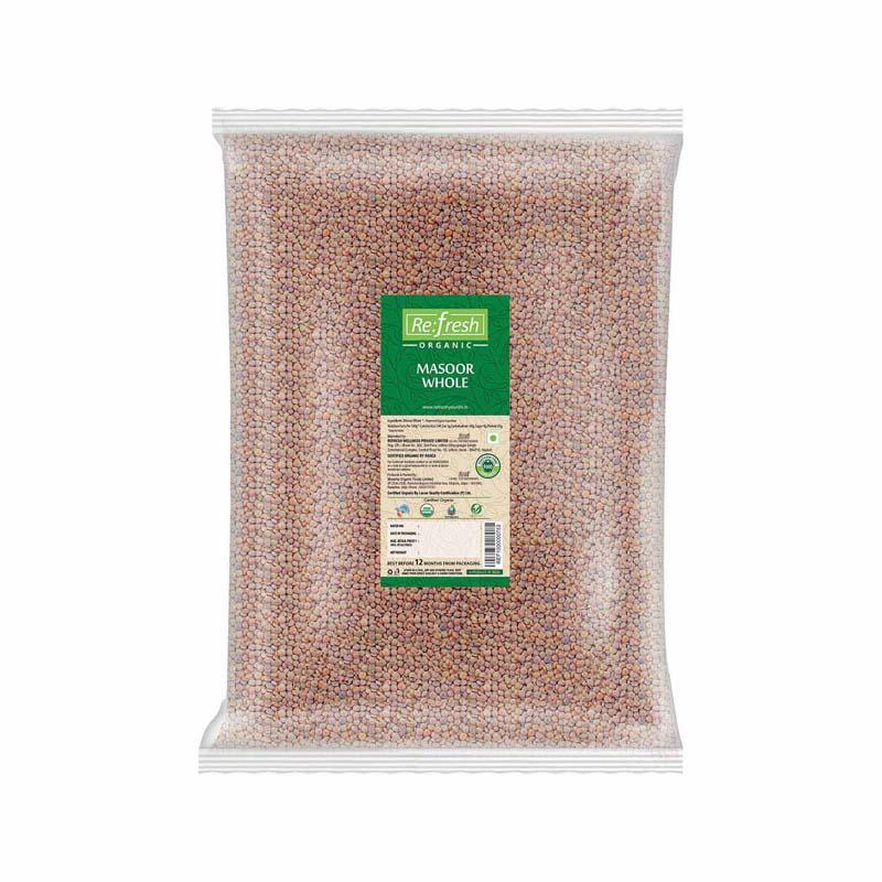 Organic Masoor Whole - 5 KG