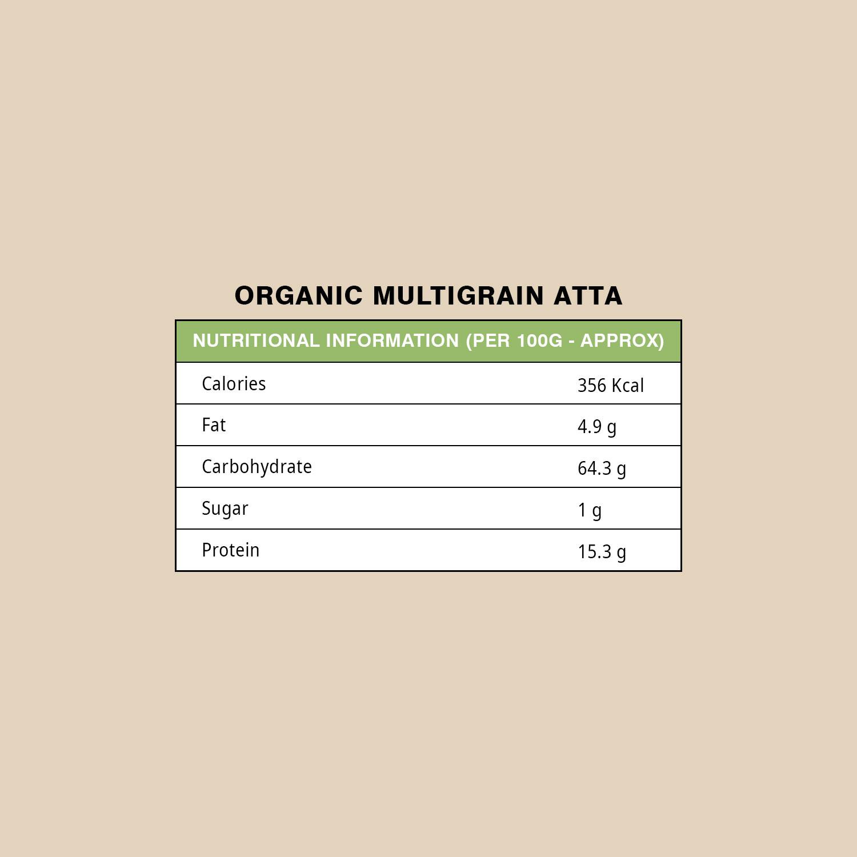 ORGANIC MULTIGRAIN ATTA