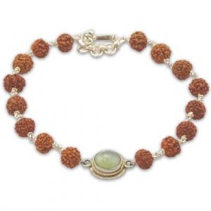 Rudraksha & Gem Bracelet for Ketu