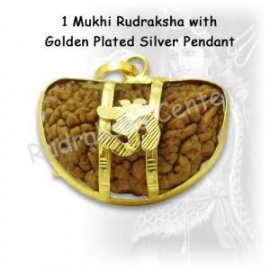 One Mukhi Rudraksha with Golden Om Pendant