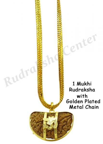 One Mukhi Rudraksha with Golden Chain