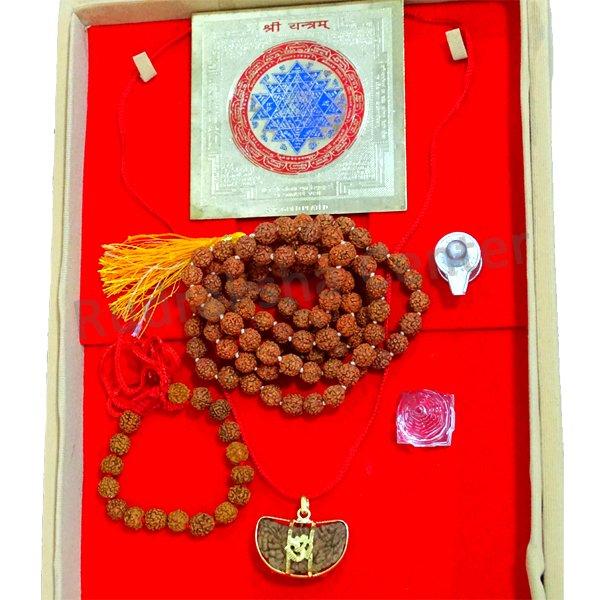 One (1) Mukhi Rudraksha - Complete Set