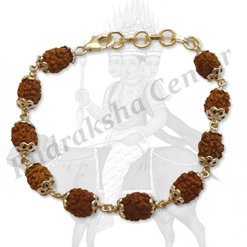 3 Mukhi Agni Bracelet in Silver