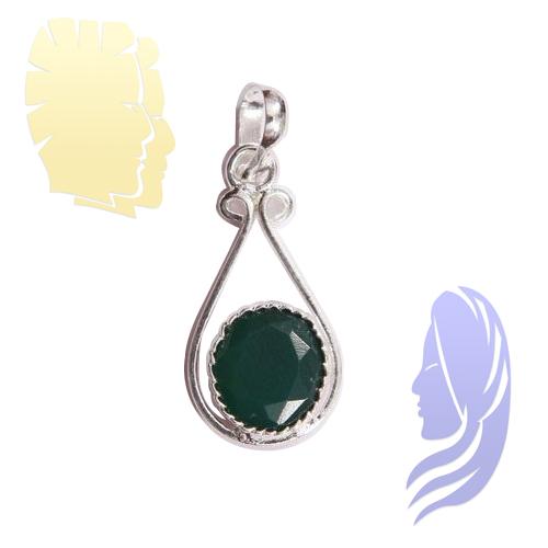 Emerald Pendant for Gemini (Mithun Rashi) & Virgo (Kanya Rashi)