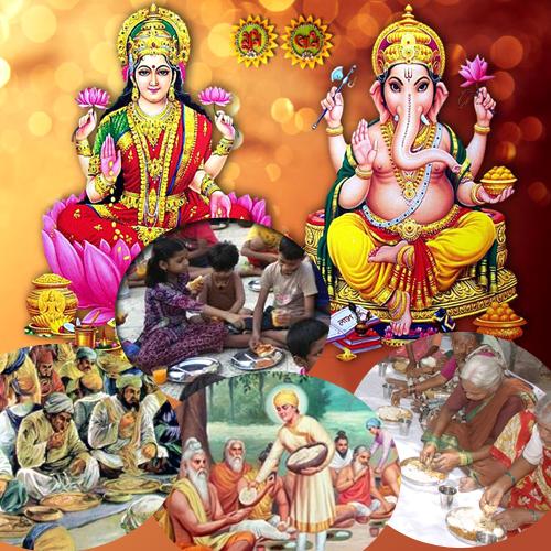 Prasadam of Puja to Poor People