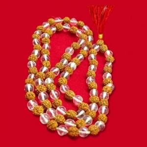Rudraksha Crystal Mala
