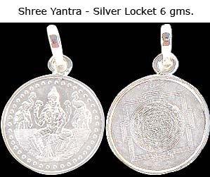 Shree Yantra in 6 gms Silver Locket