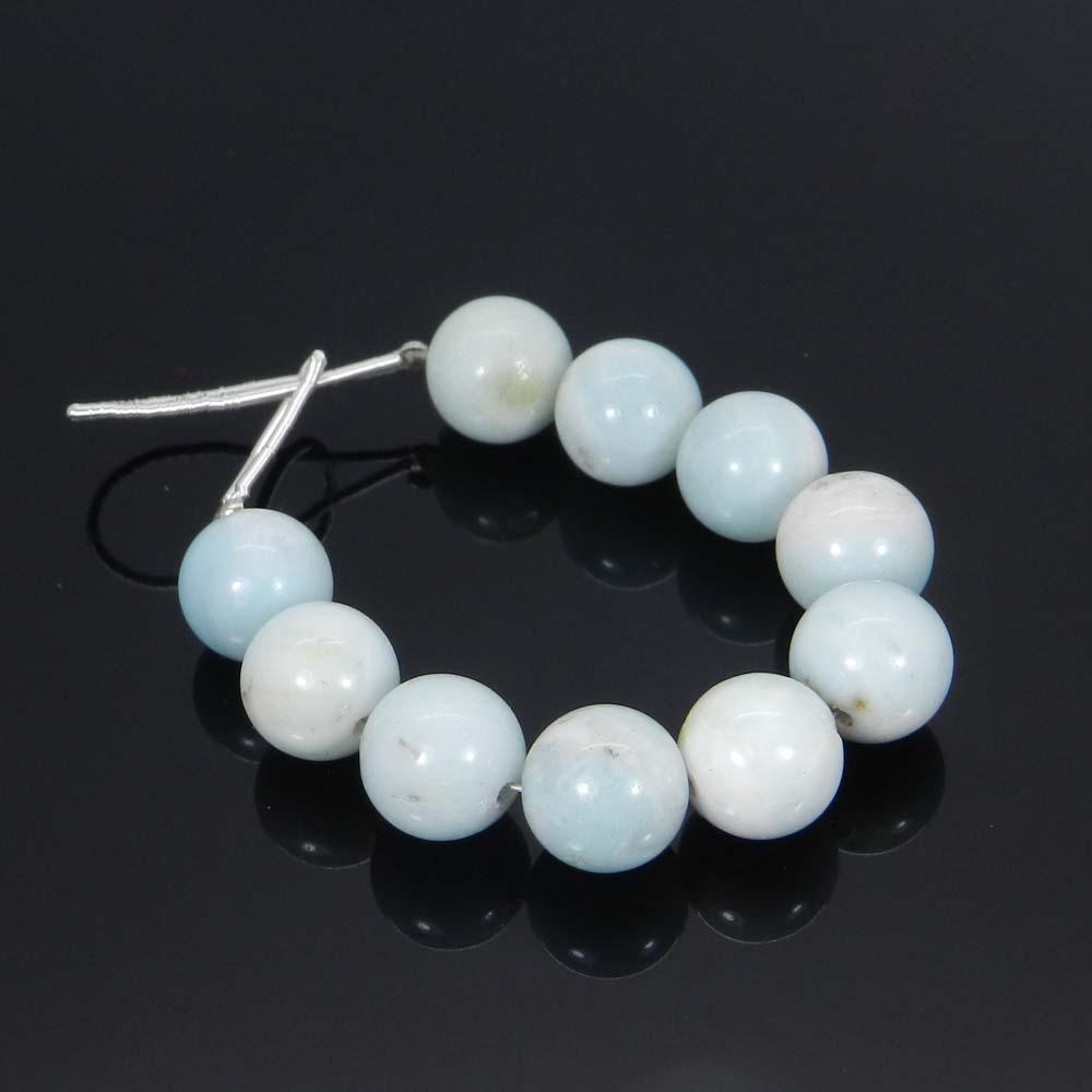 10 Pcs Natural Amazonite 10mm Round Smooth Gemstone Strand Beads