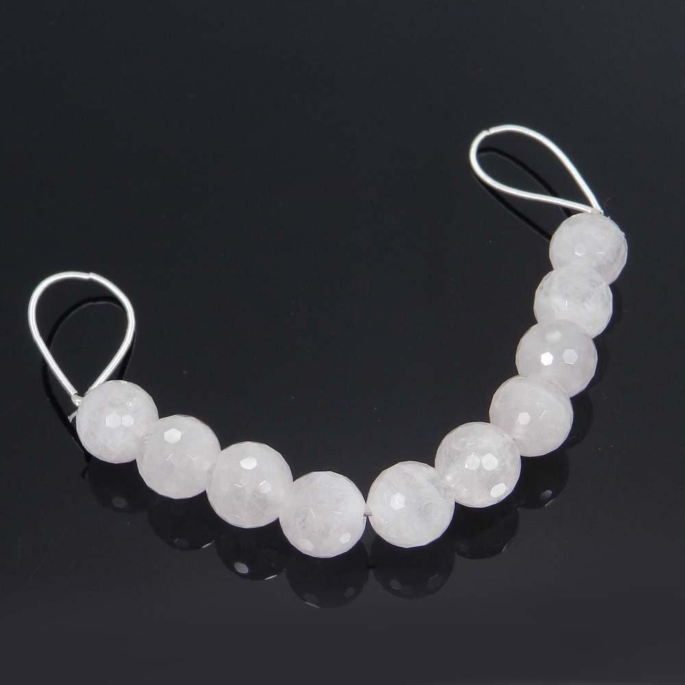 10 Pcs Rose Quartz 10mm Round Facet Gemstone Strand Beads