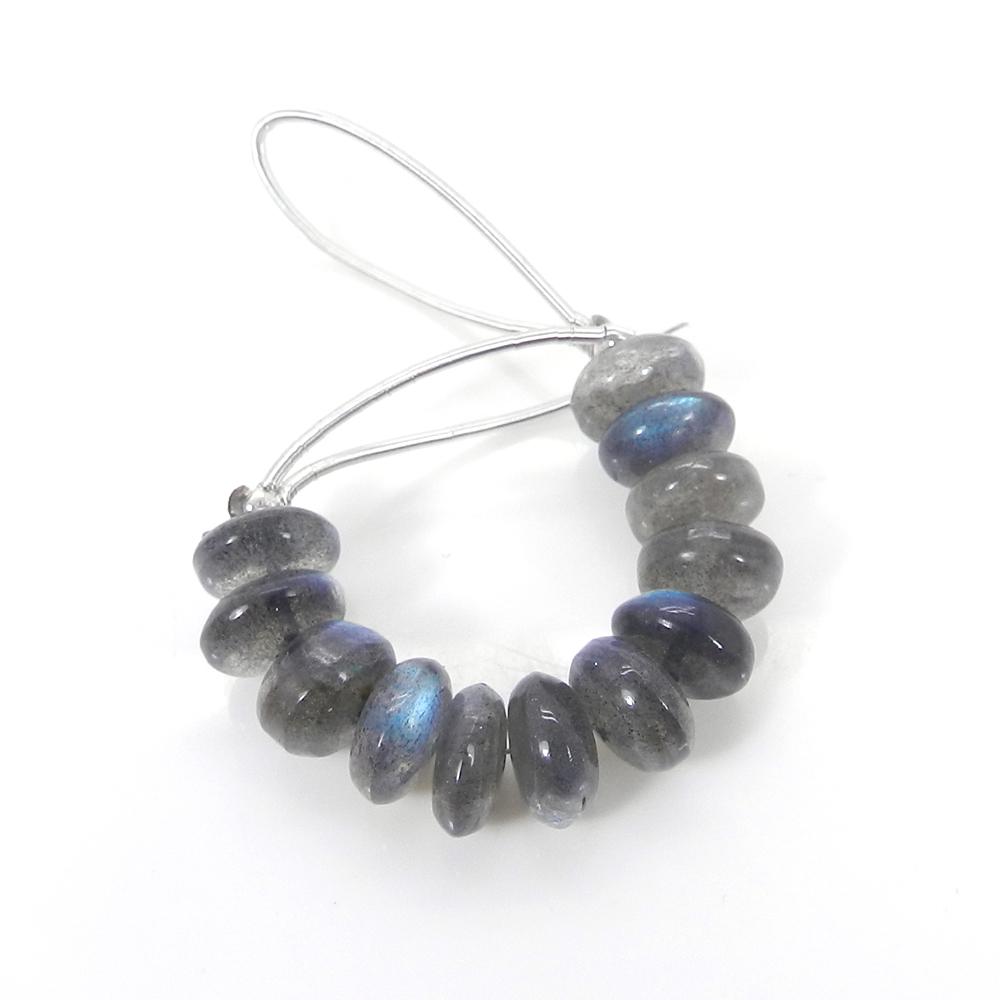 12 Pcs Natural Labradorite 8mm Roundel Smooth Gemstone Strand Beads