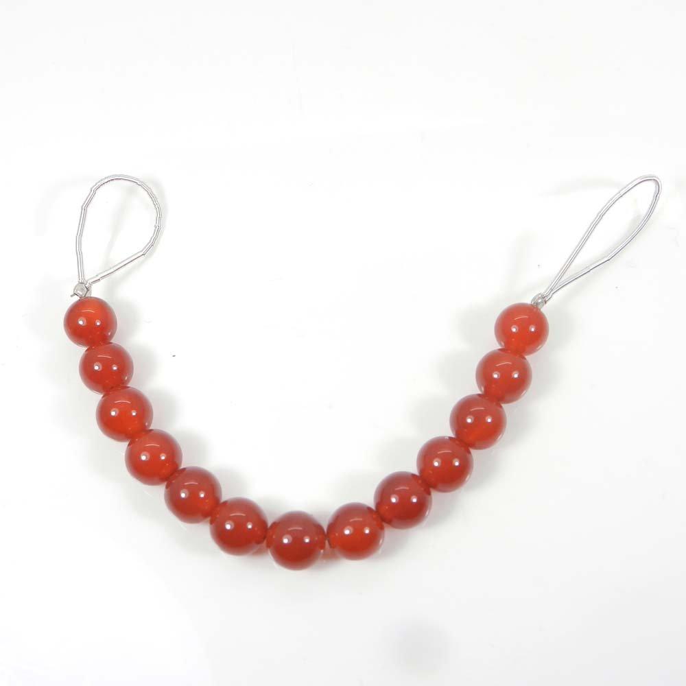 13 Pcs Red Onyx 7mm Round Smooth Gemstone Strand Beads
