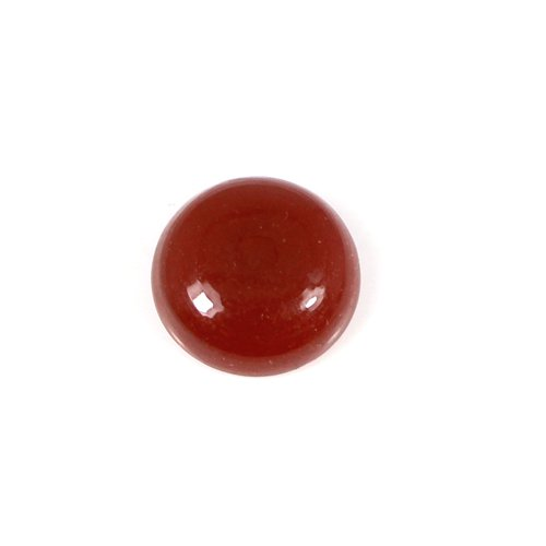 13mm Natural Red Onyx Gemstone Round Cabochon 7.10 Cts Loose Gemstone