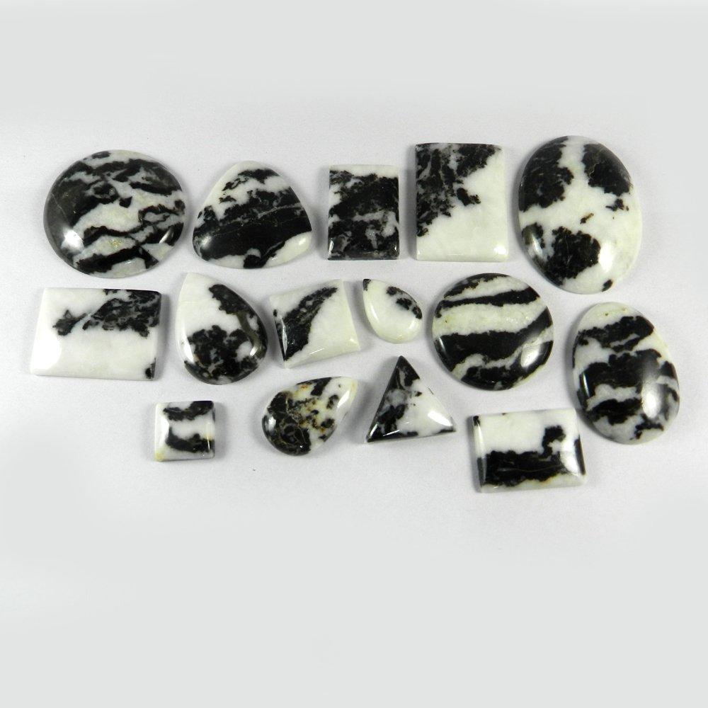 15 Pcs Natural Zebra Jasper Mix Freeform Cabochon 100 Gms