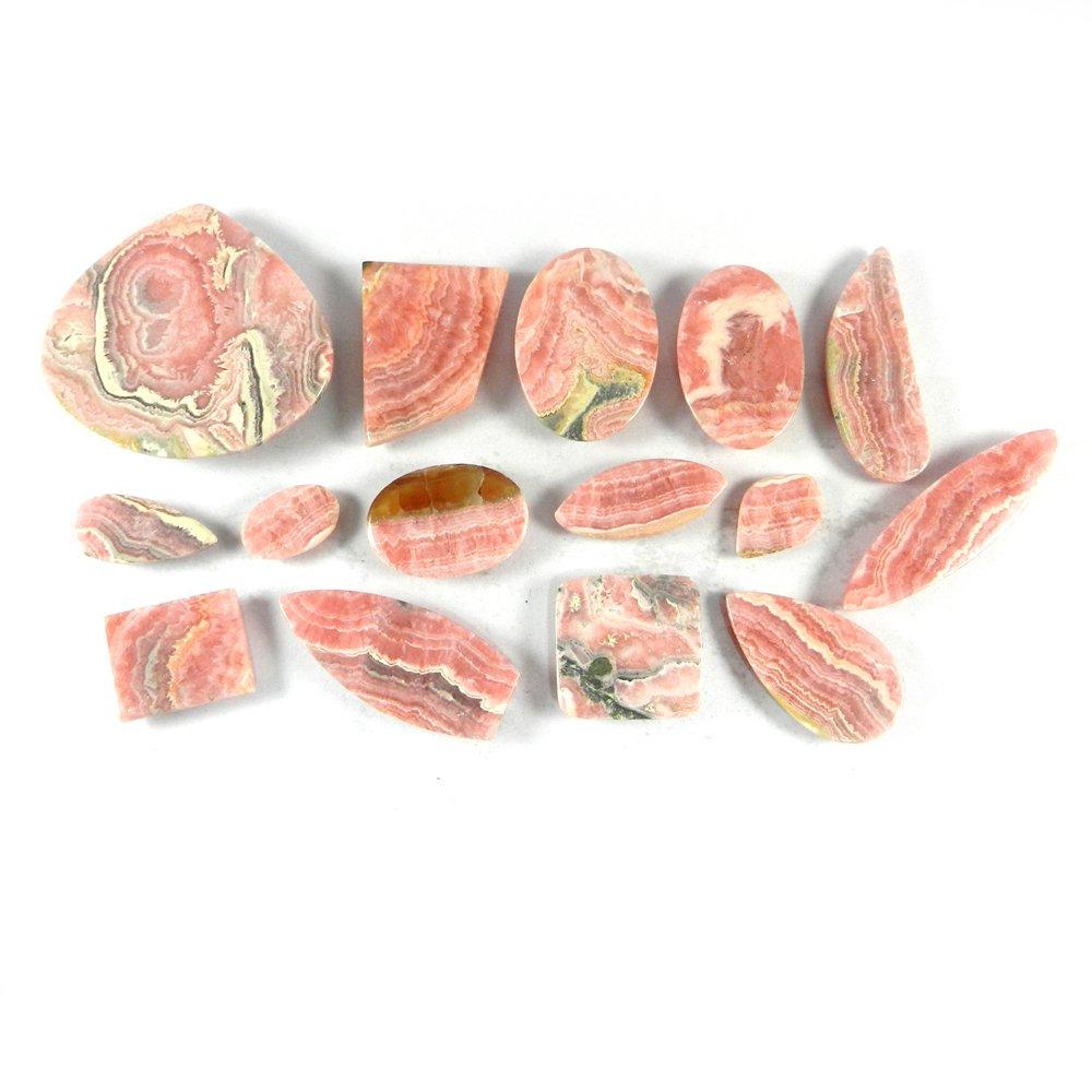 15 Pcs Rhodochrosite Mix Freeform Cabochon 100 Gms