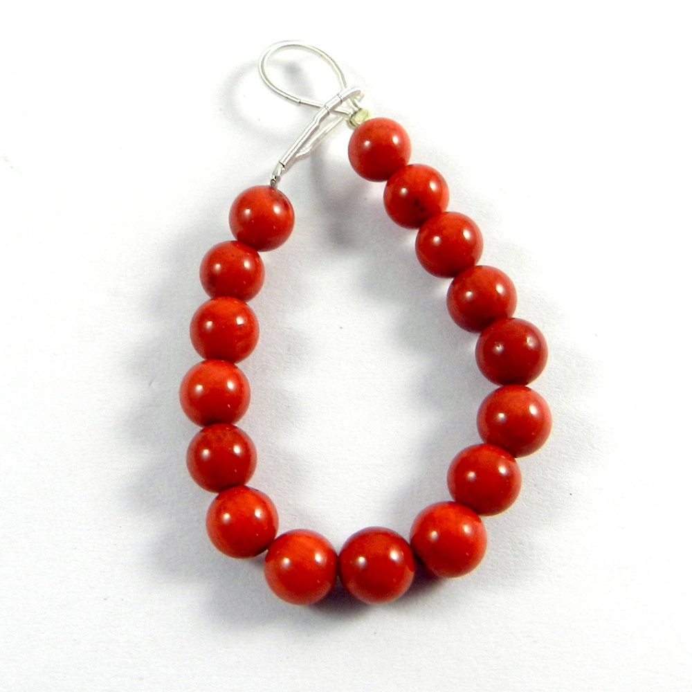16 Pcs Syn. Red Coral 6x6mm Roundel Smooth Gemstone Strands Beads