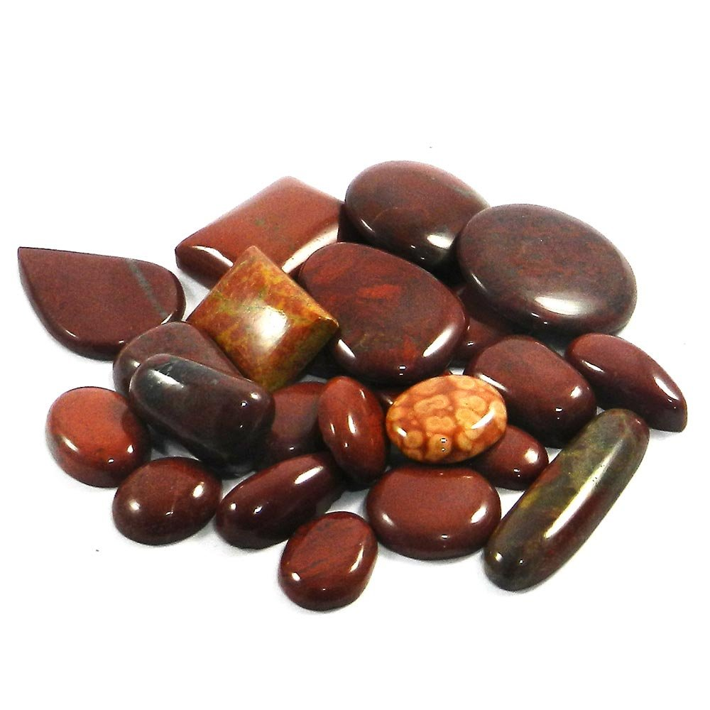 24 Pcs Natural Red Jasper Mix Freeform Cabochon 100 Gms