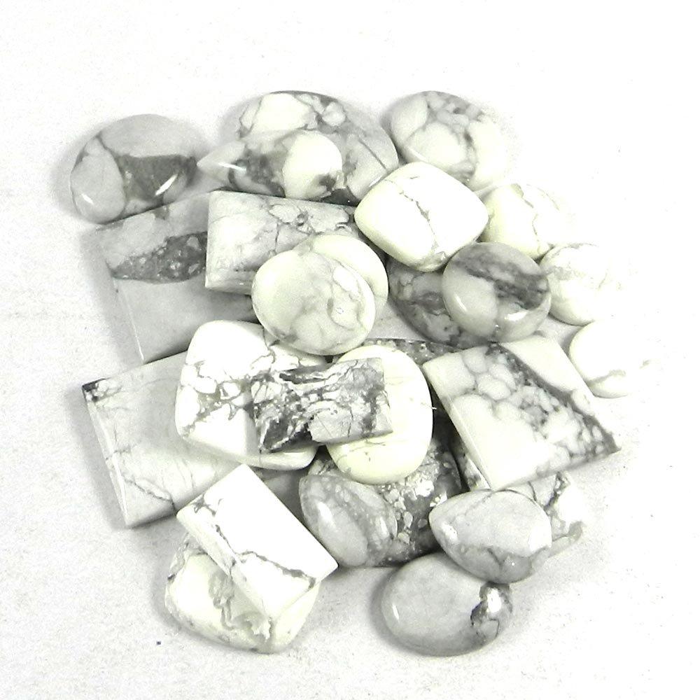 27 Pcs Natural Howlite Jasper Mix Freeform Cabochon 100 Gms