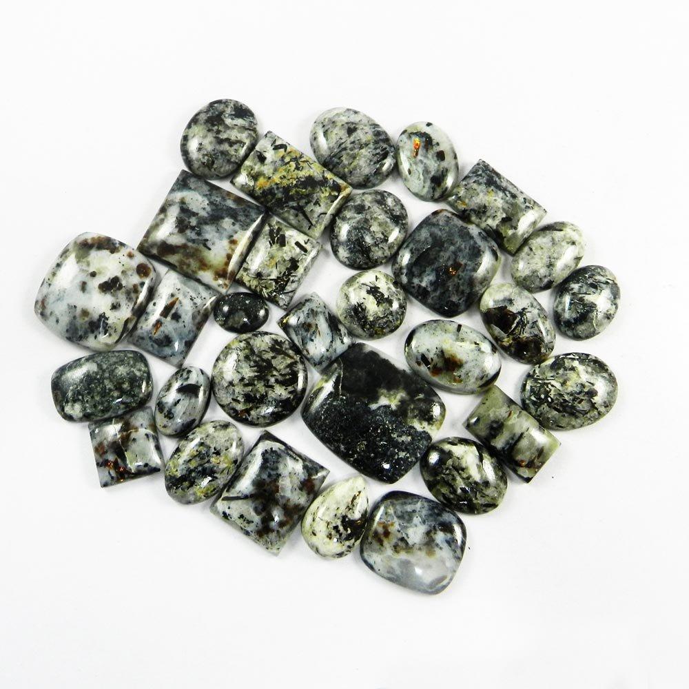 30 Pcs Natural Astrophyllite Mix Freeform Cabochon 100 Gms