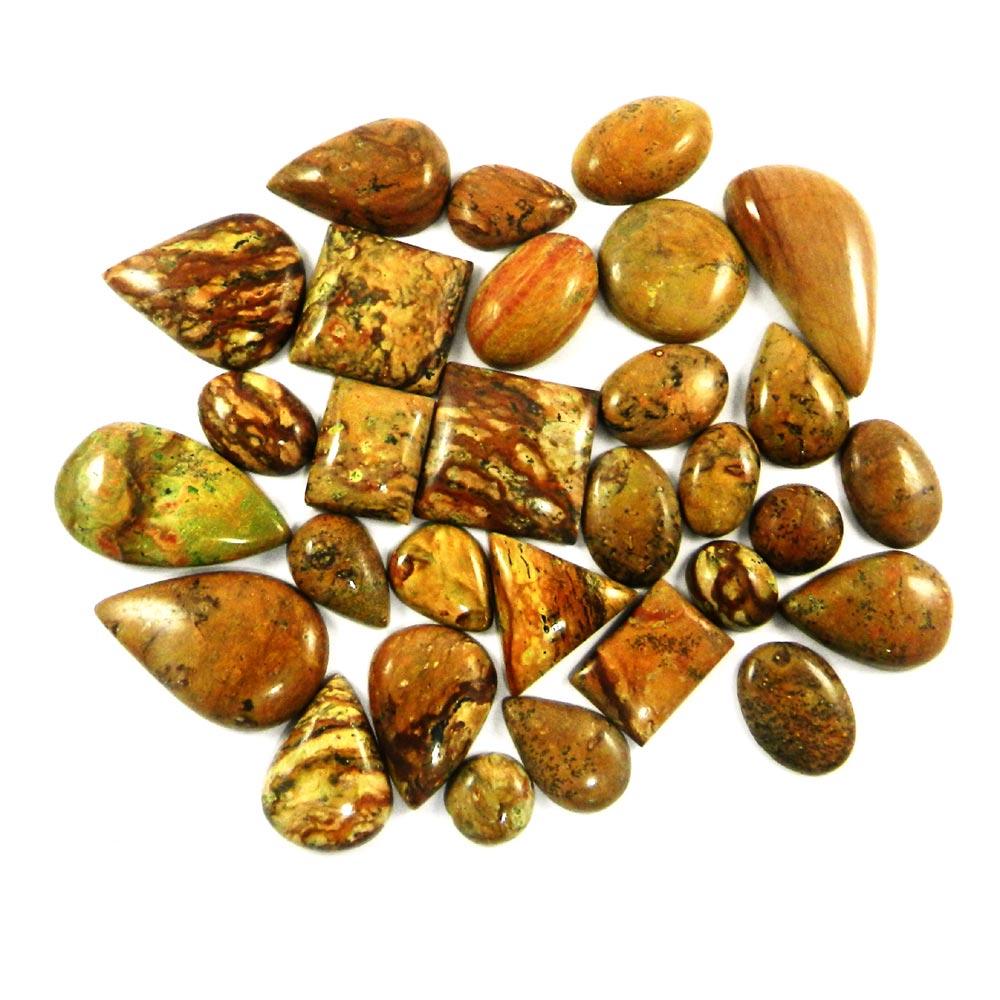30 Pcs Natural Banded Jasper Mix Freeform Cabochon 100 Gms